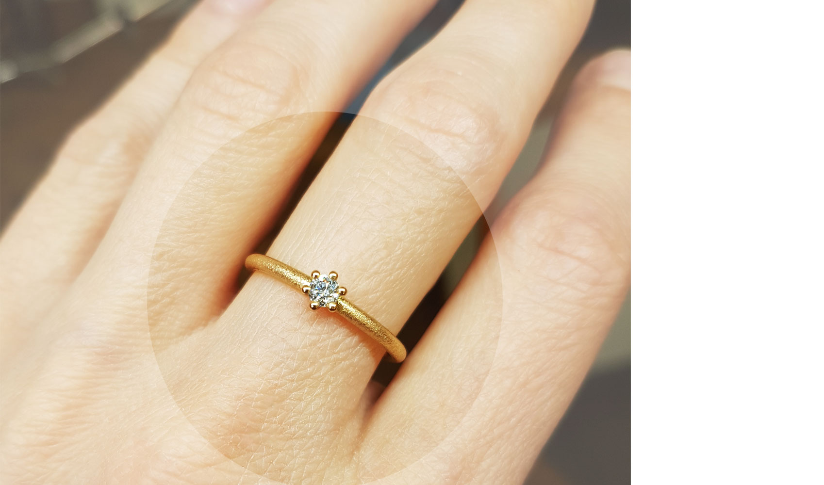 "GOLDAFFAIRS - Verlobungsring ""Maya"" aus ECO/FAIR Rosegold 750, sandmatt"