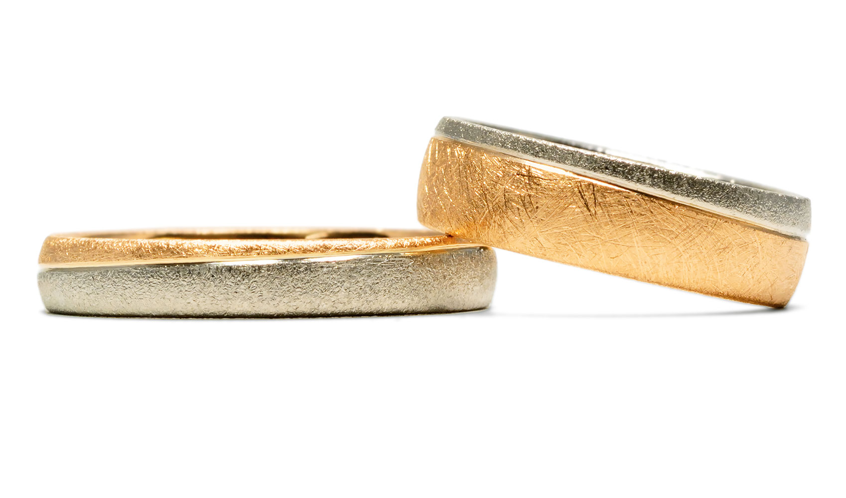 GOLDAFFAIRS - Zweifarbige Ringe - Eheringe aus Fair Trade Gold
