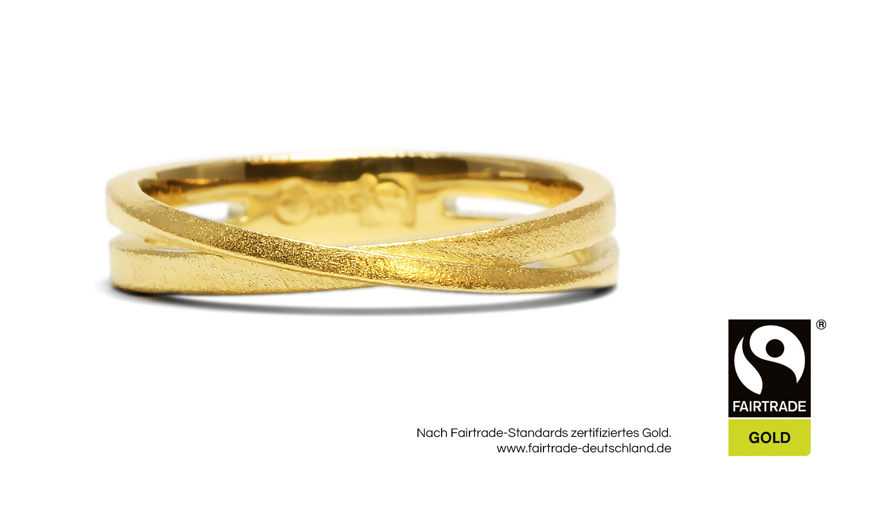 "GOLDAFFAIRS - Ring ""Malia"" aus FAIRTRADE Gelbgold, sandmatt"