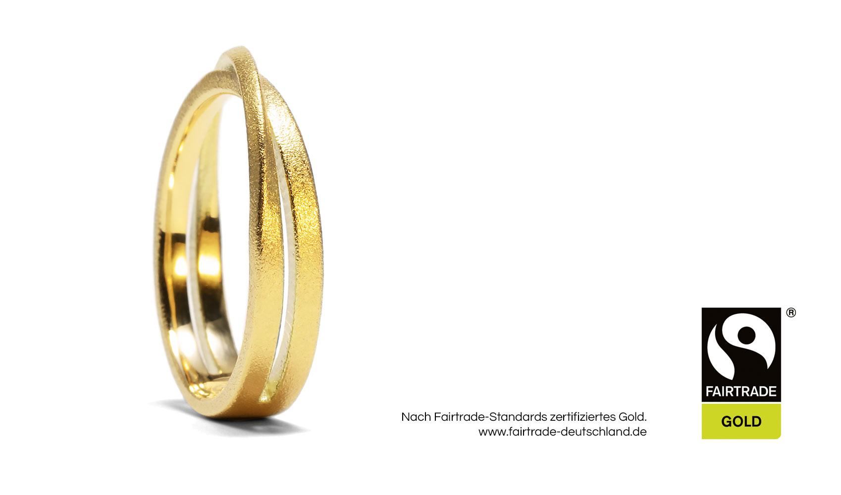 "GOLDAFFAIRS - Ring ""Malia"" aus FAIRTRADE Gelbgold"