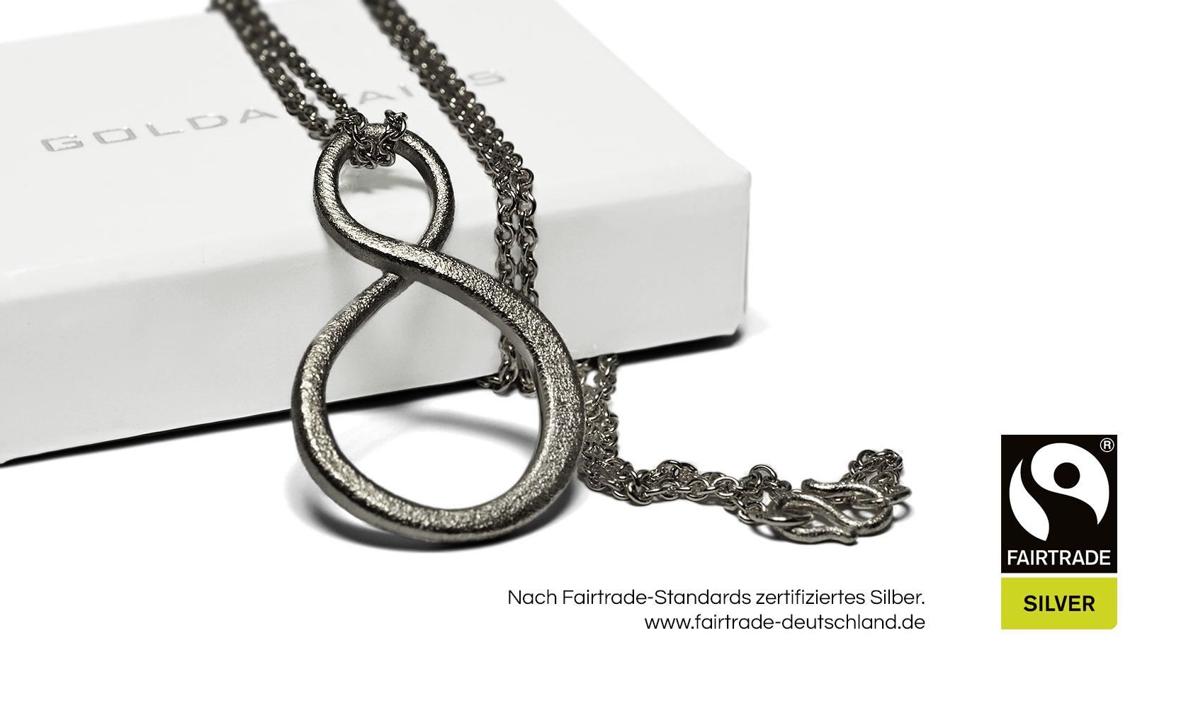 """GOLDAFFAIRS - Anhänger""""endless"""" aus Fairtrade Silber, schwarz rutheniert"""