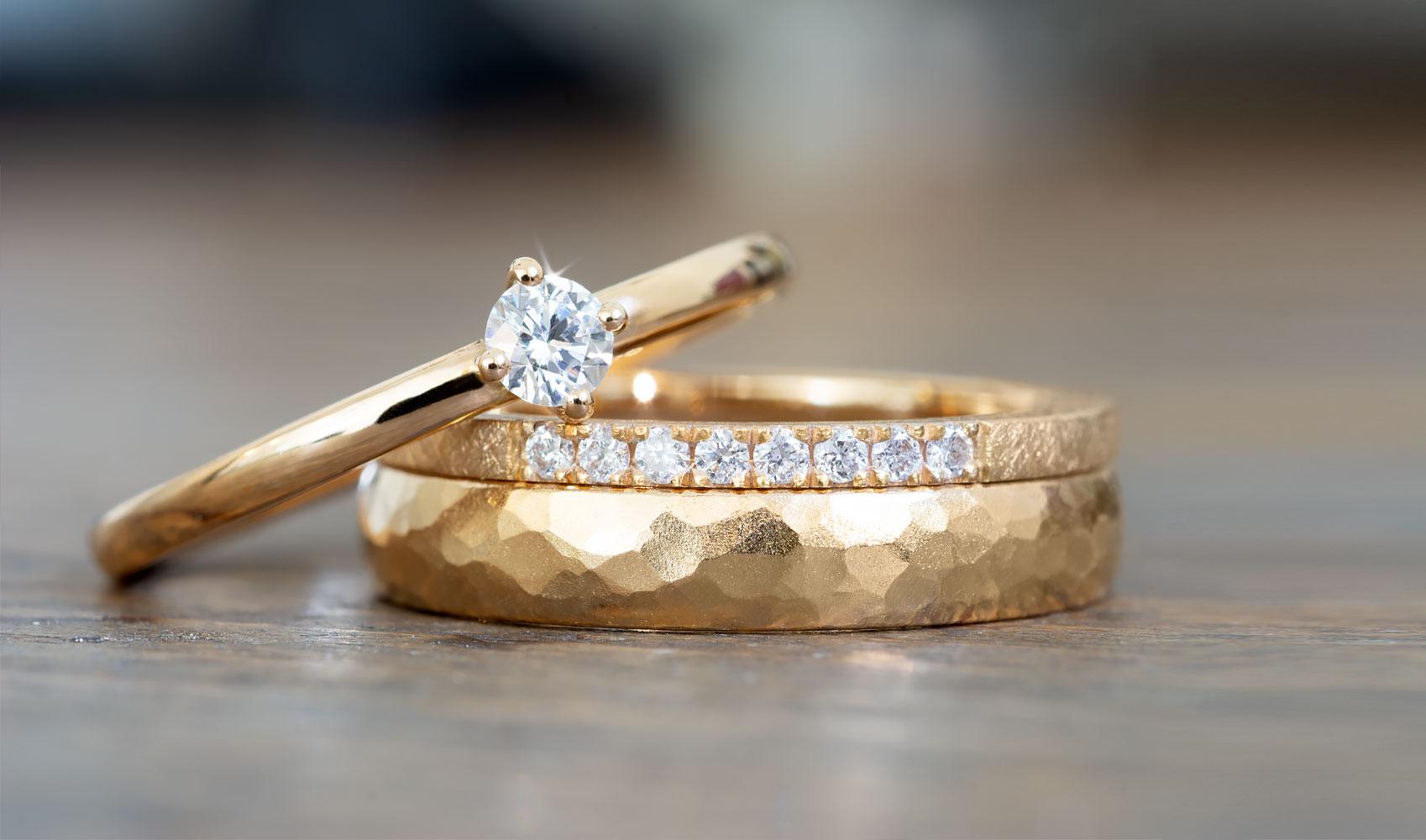 """Ring """"Enya"""" von GOLDAFFAIRS aus öko fair Roségold 750, poliert"""