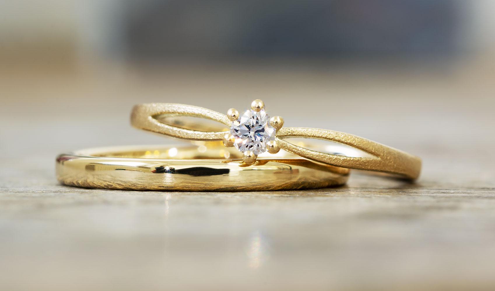 """GOLDAFFAIRS - Verlobungsring """"Iva"""" aus FAIRTRADE Gelbgold mit Diamant"""