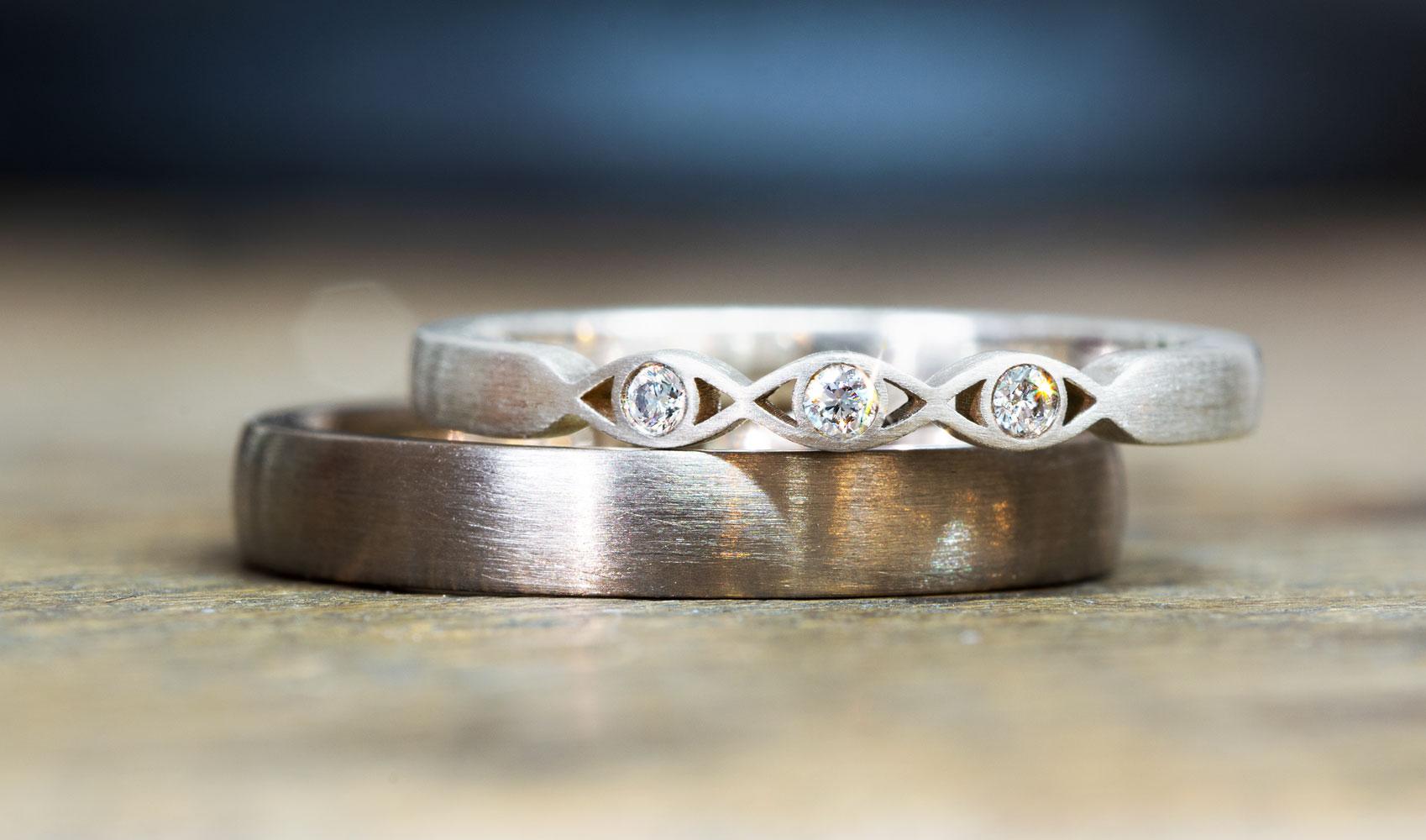 """GOLDAFFAIRS - Verlobungsring """"holly"""" aus FAIRTRADE Silber mit weißen Diamanten"""
