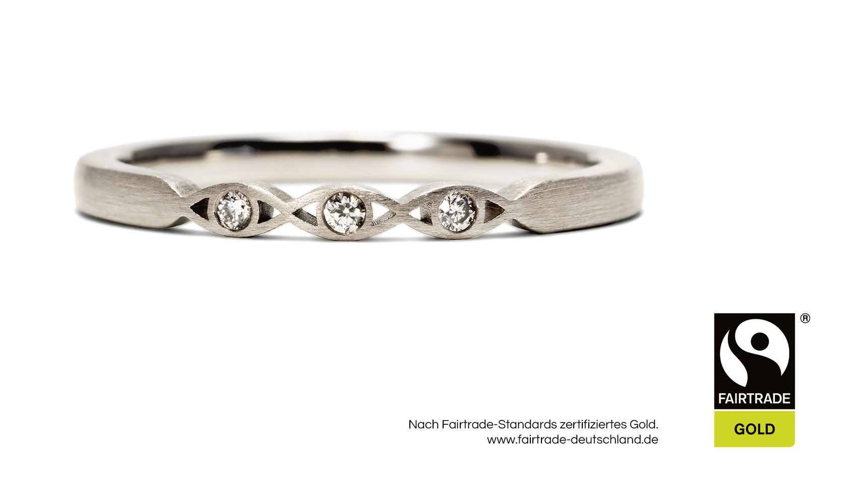 "GOLDAFFAIRS - Verlobungsring ""holly"" aus FAIRTRADE Weißgold 585/-"