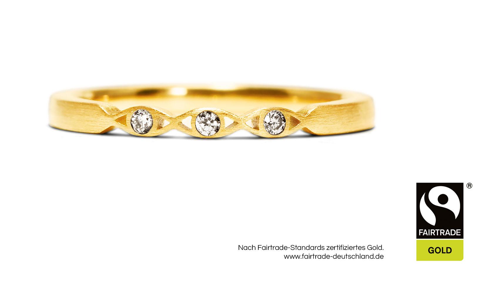"GOLDAFFAIRS - Verlobungsring ""holly"" aus FAIRTRADE Gelbgold 750/-"