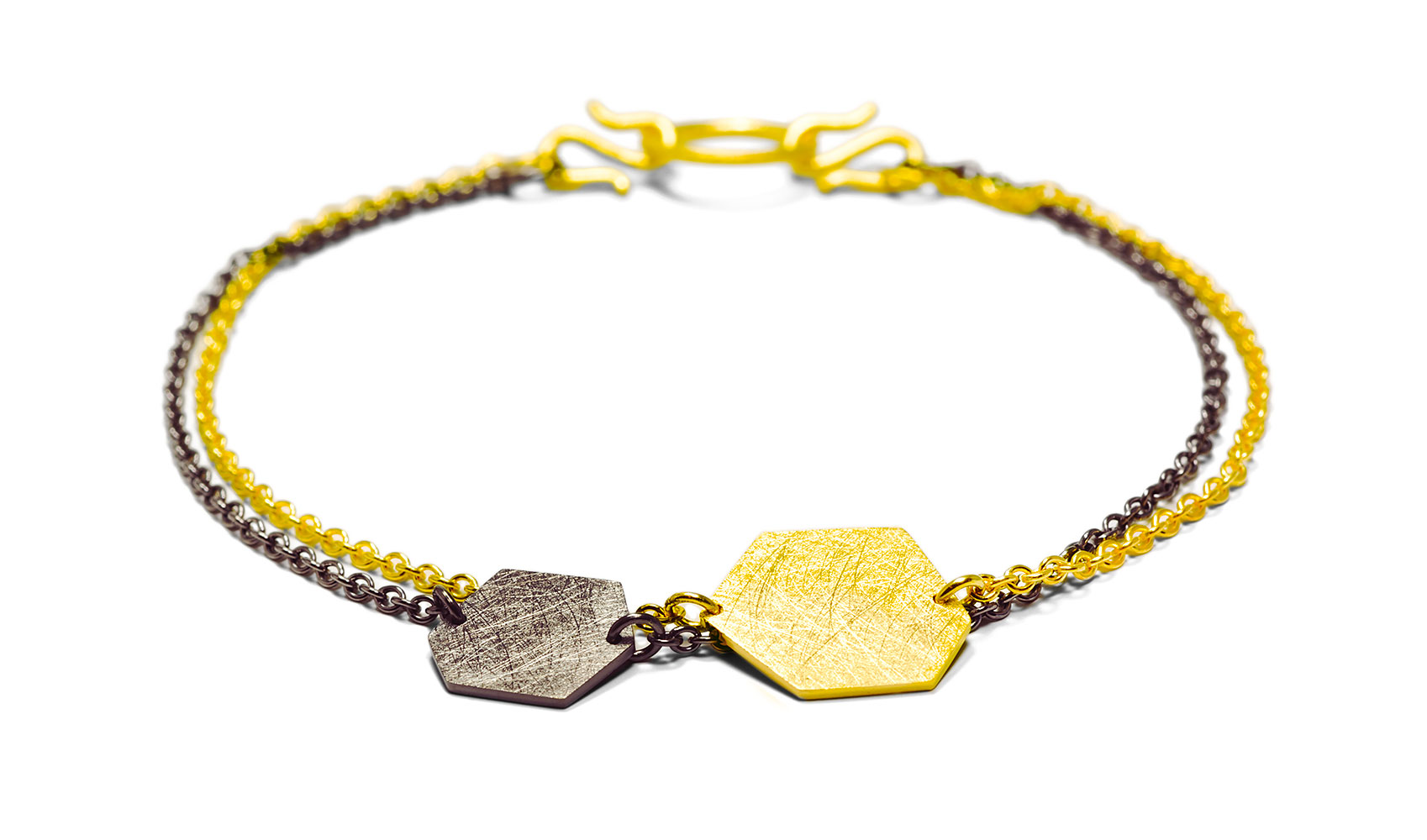 """GOLDAFFAIRS - Armband """"polly"""" aus Fair Trade Silber, gelbgoldplattiert"""