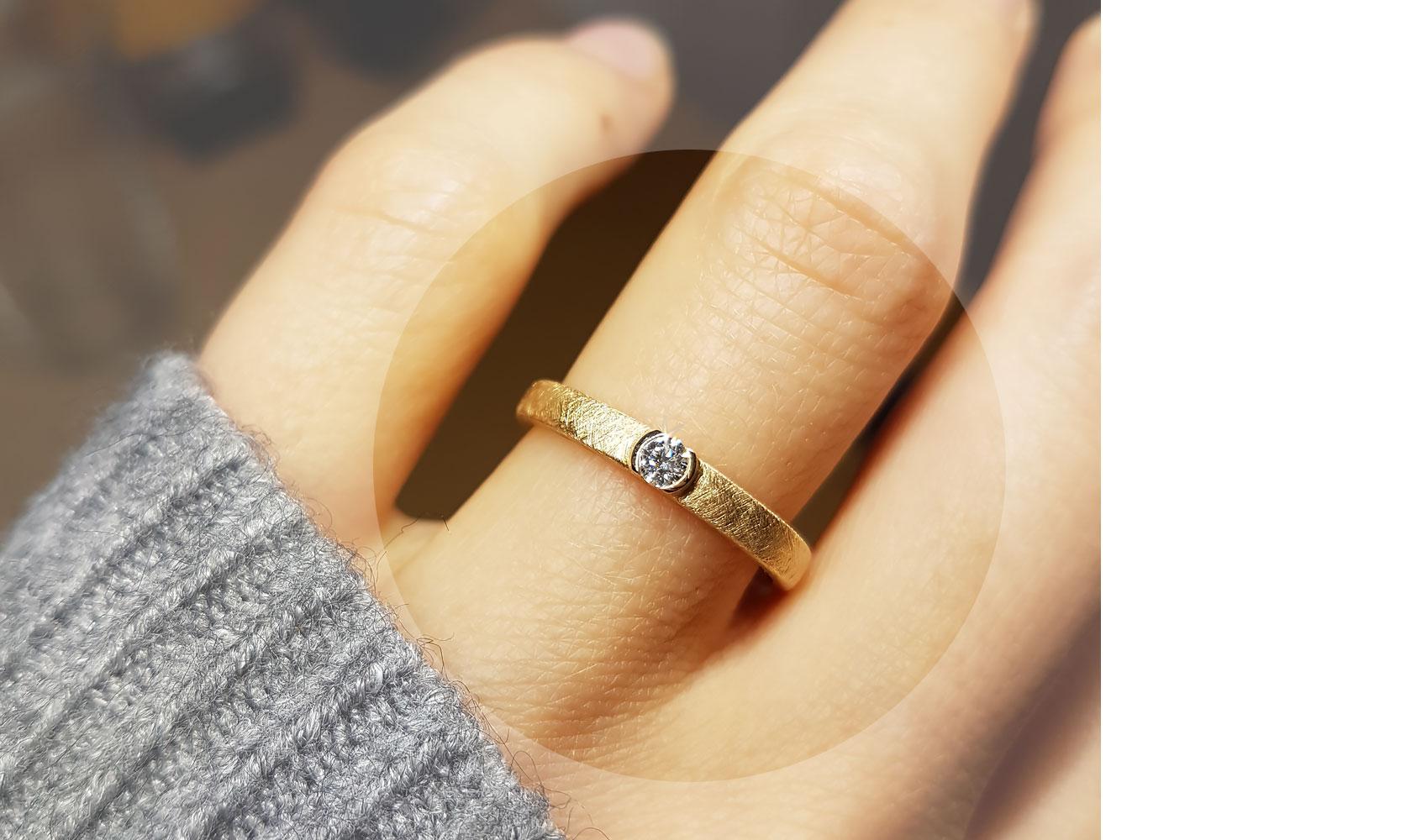"""Ring """"precious"""" aus ökologischem Gold von GOLDAFFAIRS"""