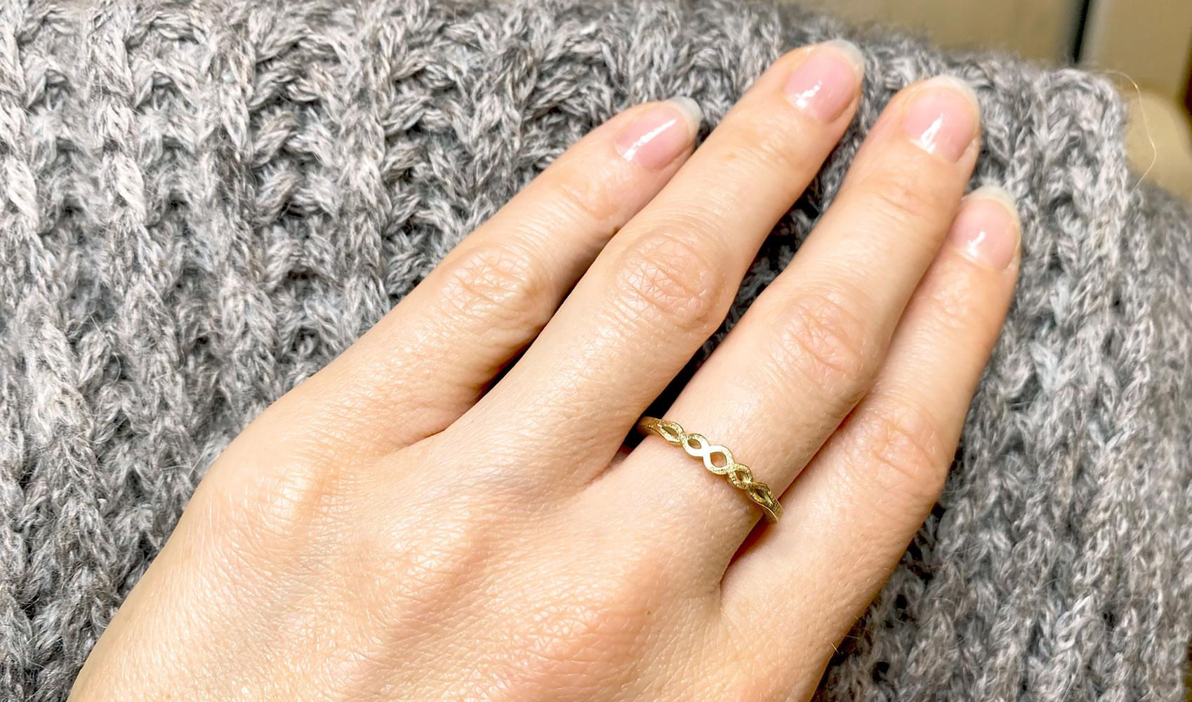 GOLDAFFAIRS - gefochtener Ring aus FAIRTRADE Gold