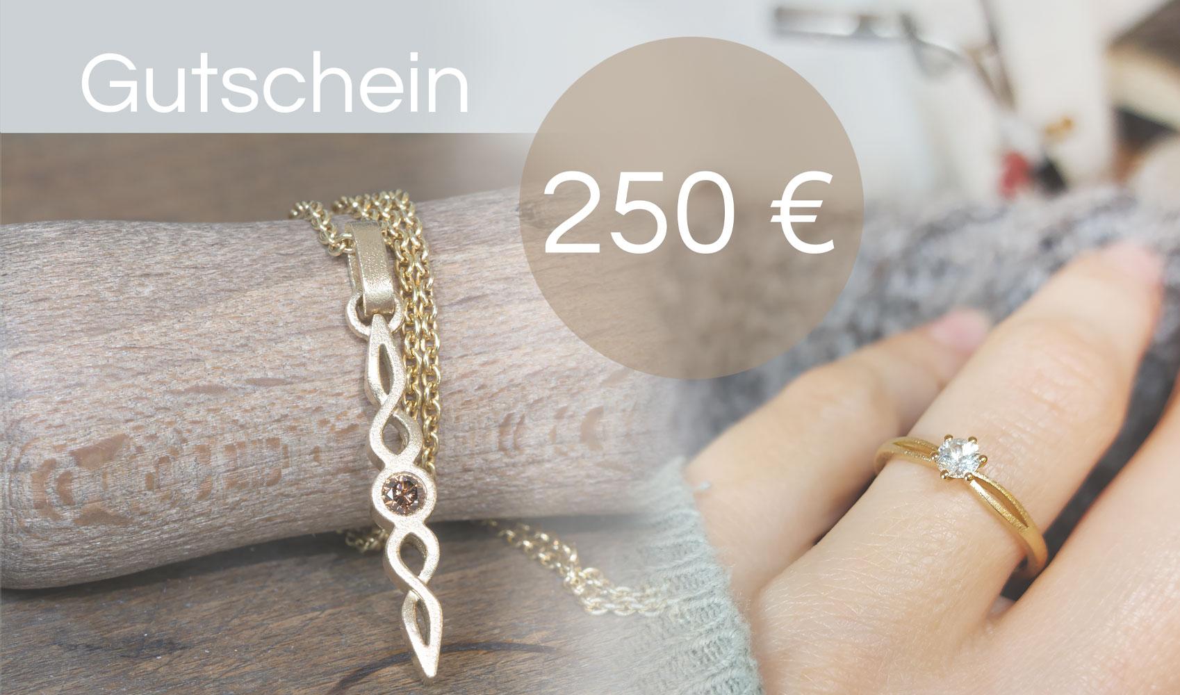 GOLDAFFAIRS - Gutschein für Fair Trade Schmuck - 250 Euro